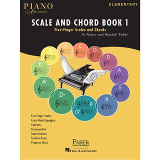 PIANO ADVENTURES SCALE AND CHORD BOOK 1 - FIVE-FINGER SCALES AND CHORDS (ELEMENTARY)