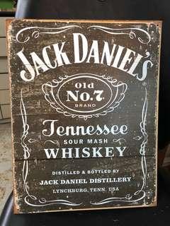 Jack Daniel's Whiskey懷舊裝飾鐵板
