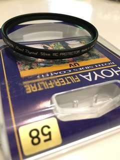 Hoya Pro1 Digital 58mm Lenses Filter. Canon, Nikon, Sony, Olympus, Fuji.