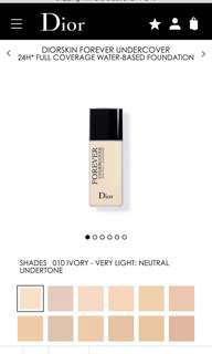 diorskin forever undercover shade 010