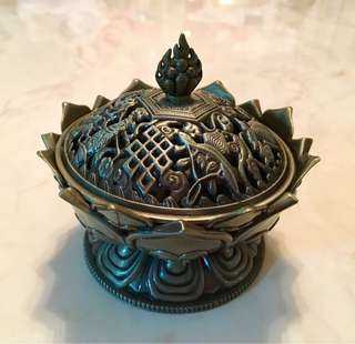 Brass incense burner come with box