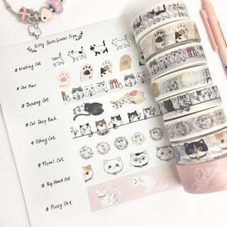[Ready Stock] Cutie Cat Series Washi Tape