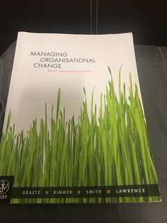 Managing organisation change book
