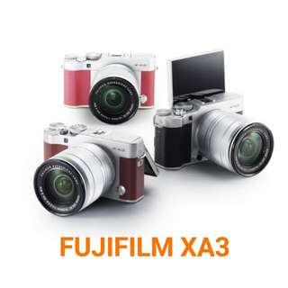 Kredit Kamera Fujifilm XA 3 kit 16-50 mm acc 3 mnt ready PS4 HP PS3 Laptop