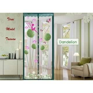 Tirai Magnet Motif Dandelion