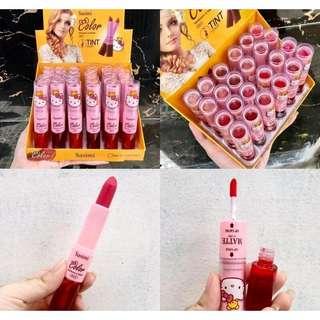 Lip tint & lipstick sasimi color moisturize 2in1