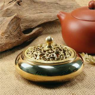 Brass Incense Burner 亮黄铜经典香爐
