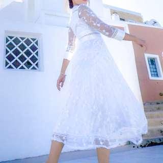 小禮服 婚紗 白色 蕾絲 歐洲婚紗
