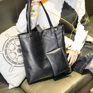 [PO]Leather Tote Bag