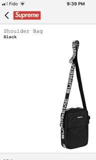 Supreme Black Shoulder Bag SS18