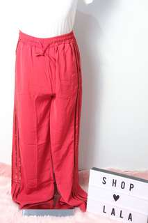 RED GLITTERRED TRACKPANTS