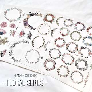 [Ready Stock] Planner Stickers - Floral Series (Uncut)