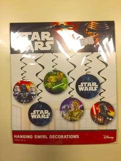 Star wars hanging swirl deco