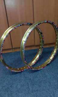 Rim alloy gold pair
