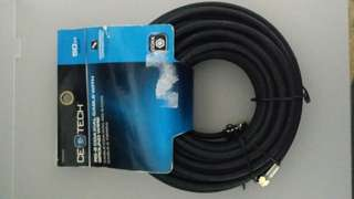 RG 6 COAXIAL CABLE WITH GROUND WIRE 50 FT