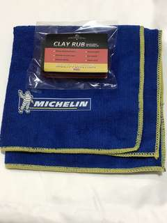 Cleaning Kit - Clay Rub with Michelin High Absorbent Cloth