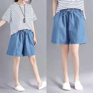 Plus Size Summer elastic waist casual loose hot pants