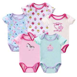 5pcs in 1 set Baby Rompers
