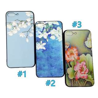Floral Blue Green Soft Case for iPhone 6plus/6s+ 7 plus/8+