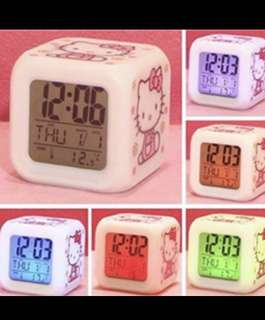 Hello kitty led alarm clock