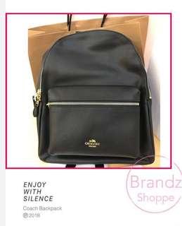 🎒SALE! 💯% Authentic Coach Women Backpack (Black)🎒Medium Size