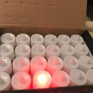 🚚 九成新 告白神器.求婚神器.LED蠟燭.電子蠟燭.安全蠟燭.1盒24個