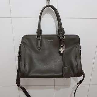 Auth Alexander Mcqueen satchel in medium size