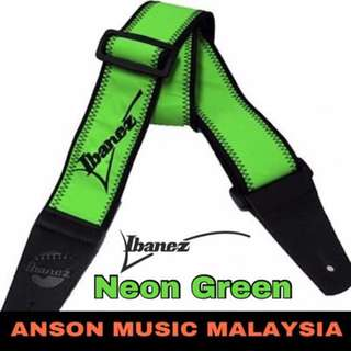 Ibanez GS601F Guitar Strap, Neon Green