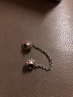 Authentic Pandora Charm Love Connection Safety Chain