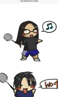 Badminton buddy