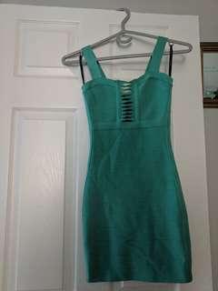 Teal 'Guess' Bandage Dress