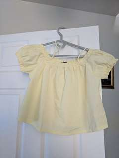 Yellow Off The Shoulder