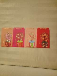 Vintage OCBC Red Packets (4 nos)