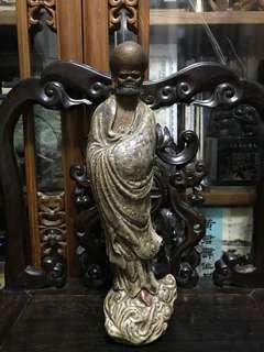 舊石灣公仔達摩陶瓷立像