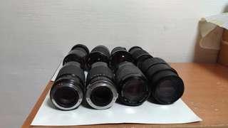 Camera #44~Spoilt manual film lenses...Minolta...Olympus...Pentax