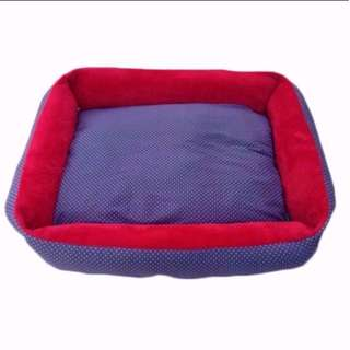 🚚 Pet Bed Blue Pixel Dog Cat Large