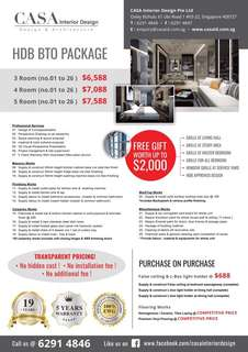 HDB BTO Complete No Hidden Cost Package
