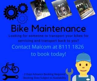 Transport Bike For Maintenance, Servicing or Repair