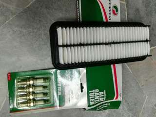Kancil Car (Original speakers, Original air filter and Original spark plug)