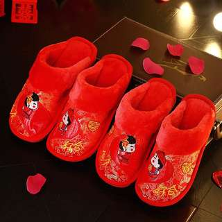 Chinese wedding slippers