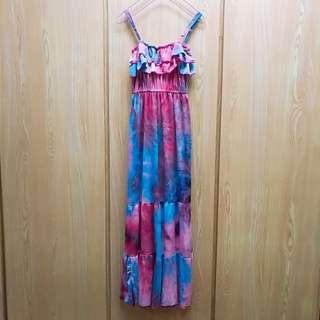 🚚 夏日渲染長洋裝