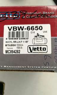 Vetto Hydraulic Brake cylinder pump FE639