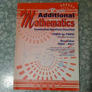Amath Olevels Exam Questions by Topics  (2002-2011)