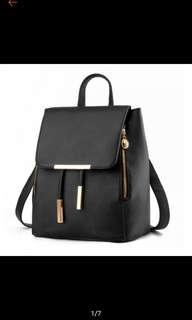 BN Korean Rucksack Shoulder / Backpack (Black / Beige)