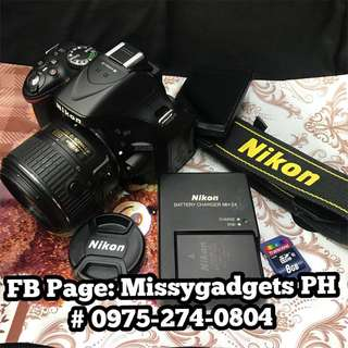 Nikon d5200 with 18-55mm kit and accessories (2ndhand)
