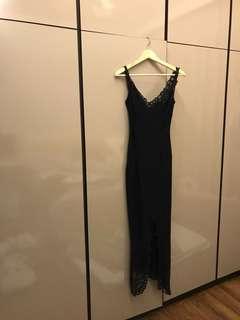 Karen Millen Black Gown with Lace