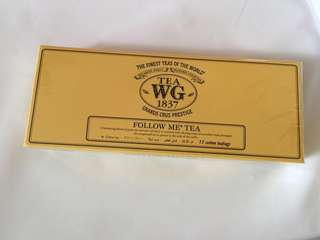 全新 連紙袋 TWG Tea Bag Follow Me Tea 15 cotton teabags Green tea