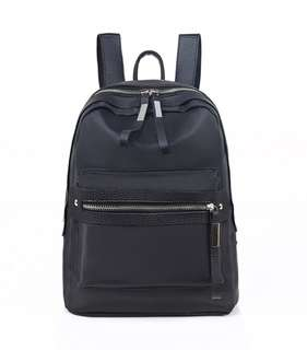 (Fit A4) Ladies Women Fashion Nylon School Backpack Black Bag