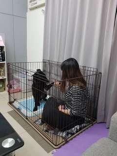 日式滑動門狗籠