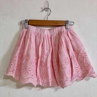 🚚 女童粉色雕花短裙(約適8-9y/130公分)